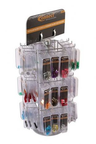 Connect 36811 Blade Fuse Rack c/w 108 Clam Packs